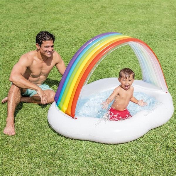 Uppblåsbar Barnpool, Regnbåge - Intex multifärg