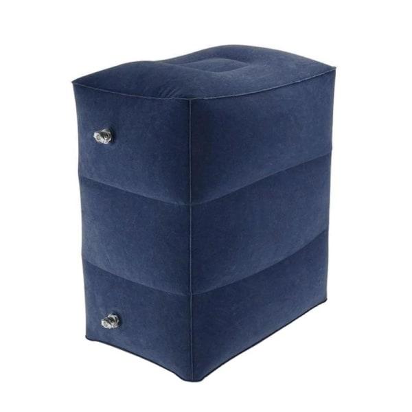 Uppblåsbar Fotpall i PVC, Mörkblå Marinblå