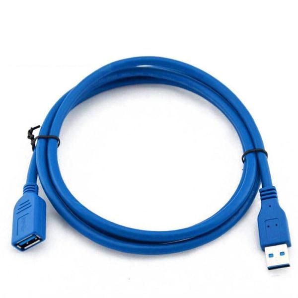 USB 3.0 Förlängningskabel - A Hane till A Hona - 1,8 meter Blå