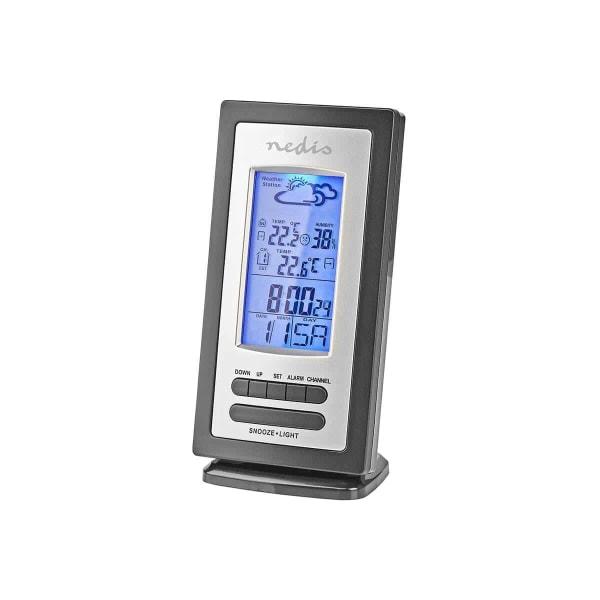 Väderstation för Inomhus och Utomhus Mätning WEST201GY Svart