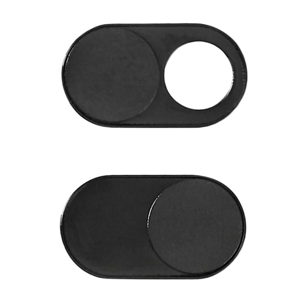 Webbkamera Skydd i Metall - Mobil/Surfplatta/Laptop (3 pack) Svart