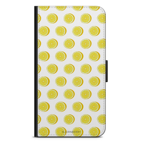Bjornberry Fodral Huawei P Smart (2018) - Citroner Vit