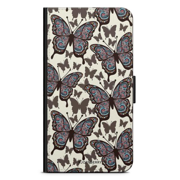 Bjornberry Fodral Motorola Moto G6 Plus - Färgglada Fjärilar