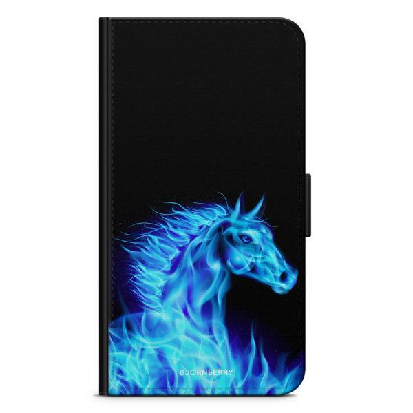 Bjornberry Fodral Motorola Moto G6 Plus - Flames Horse Blå