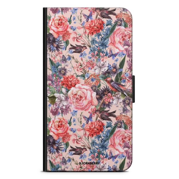 Bjornberry Fodral Samsung Galaxy A21s - Fåglar & Blommor