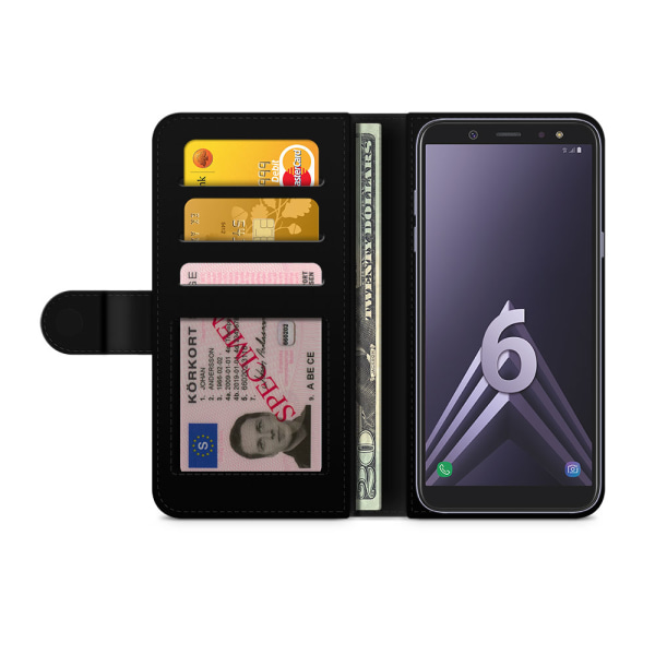 Bjornberry Fodral Samsung Galaxy A6 (2018)- Dödskallar & Rosor