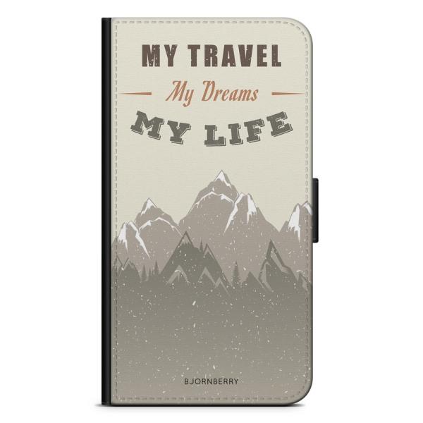Bjornberry Fodral Samsung Galaxy A70 - My Travels, My Life