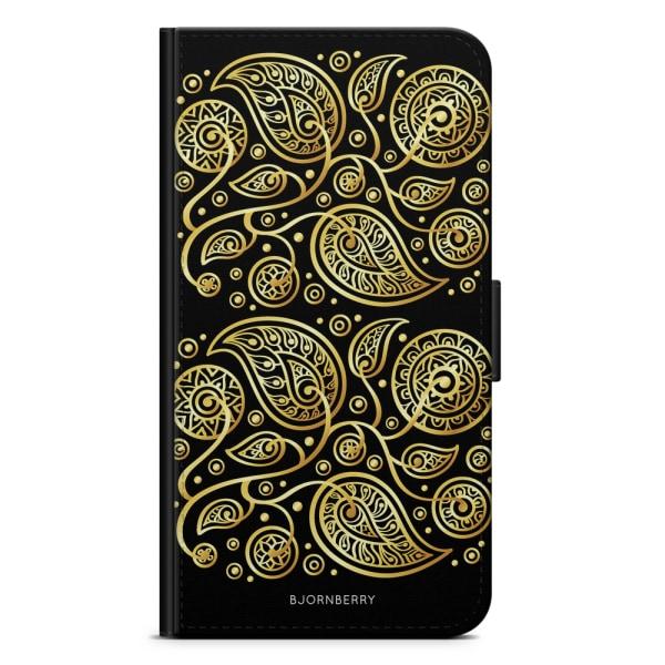 Bjornberry Fodral Samsung Galaxy Ace 4 - Guld Blommor