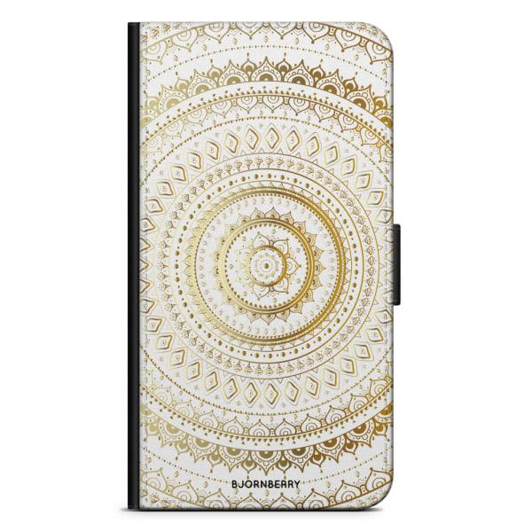Bjornberry Fodral Samsung Galaxy Alpha - Guld Mandala