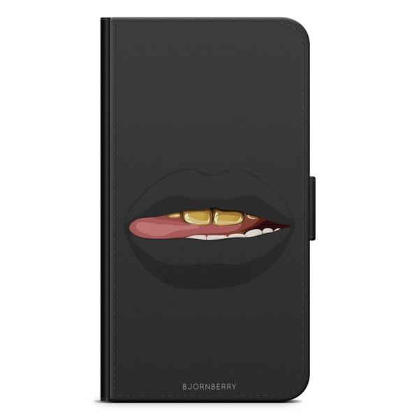 Bjornberry Fodral Samsung Galaxy Core Prime-Läppar Guld