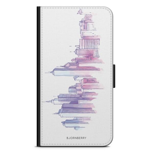 Bjornberry Fodral Samsung Galaxy Core Prime-Vattenfärg Skyline