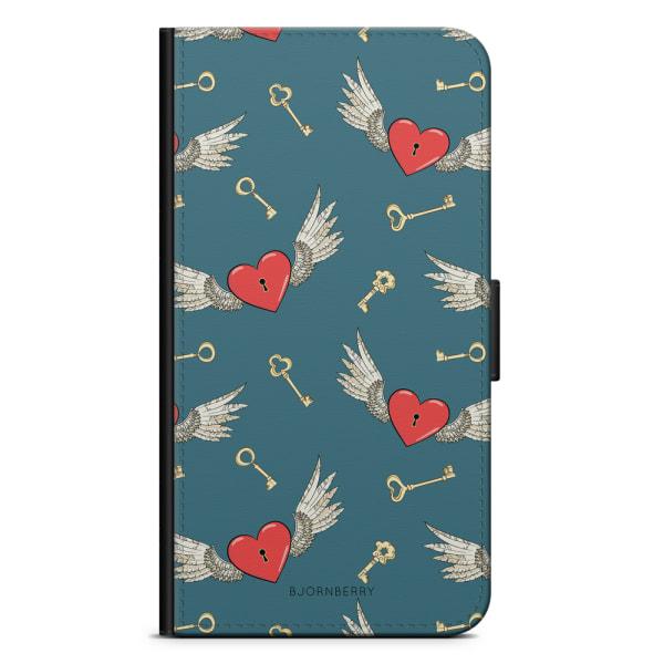 Bjornberry Fodral Samsung Galaxy S4 - Hjärtan med Vingar