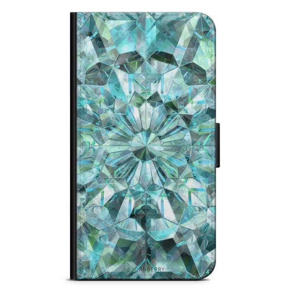 Bjornberry Fodral Samsung Galaxy S5/S5 Neo- Gröna Kristaller