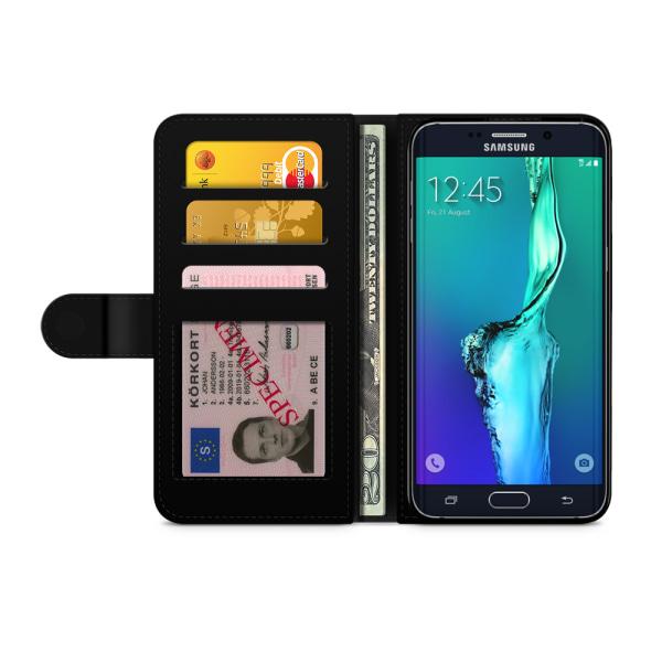 Bjornberry Fodral Samsung Galaxy S6 Edge+ - Världkarta Rymd