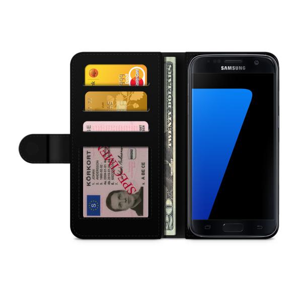 Bjornberry Fodral Samsung Galaxy S7 - Röd Paisley