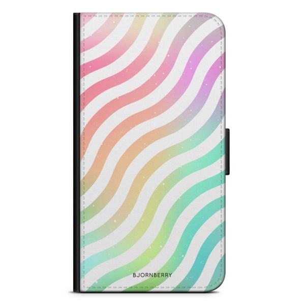 Bjornberry Fodral Samsung Galaxy S9 - Vågig Regnbåge