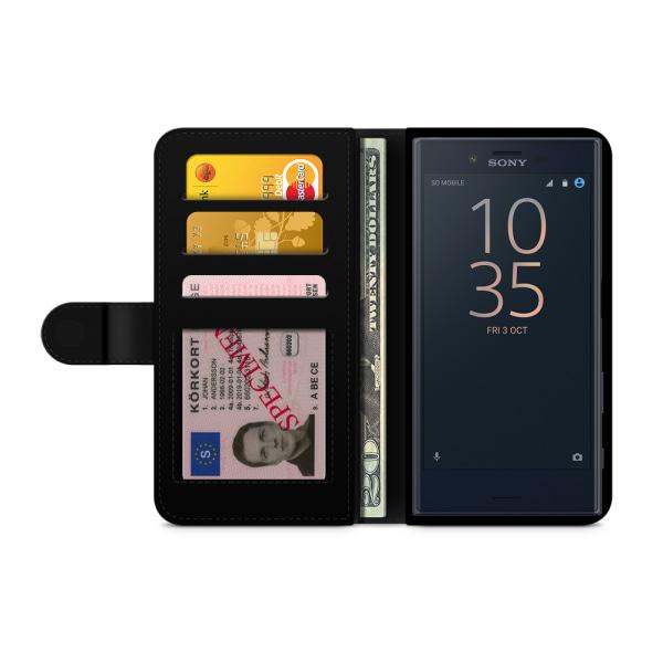 Bjornberry Fodral Sony Xperia X Compact - Modeskiss Dam Röd