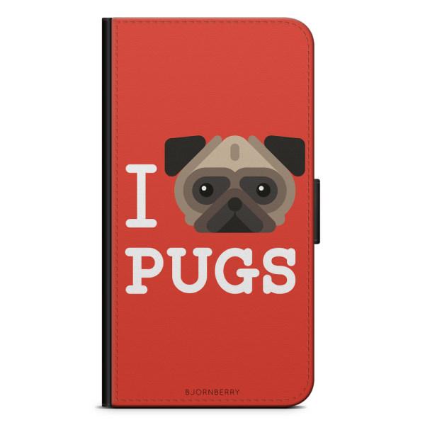 Bjornberry Fodral Sony Xperia XZ Premium - I Love Pugs