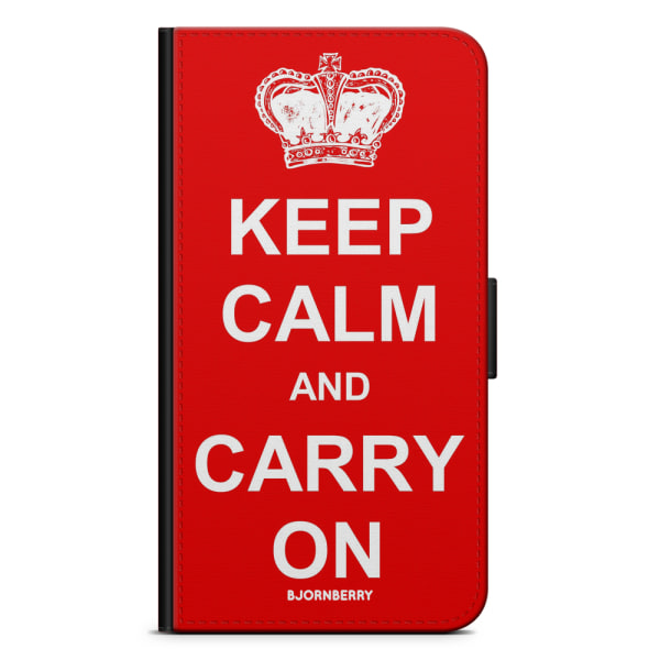 Bjornberry Fodral Sony Xperia XZ Premium - Keep calm carry on