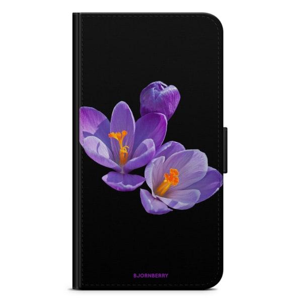 Bjornberry Fodral Sony Xperia XZ / XZs - Lila Blommor