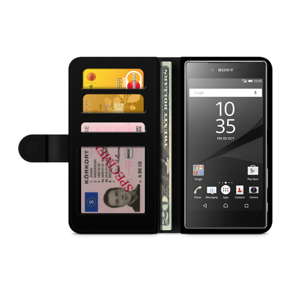 Bjornberry Fodral Sony Xperia Z5 Compact - Lila Blommor