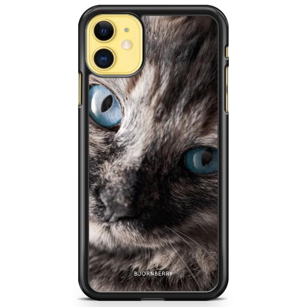 Bjornberry Hårdskal iPhone 11 - Katt Blå Ögon