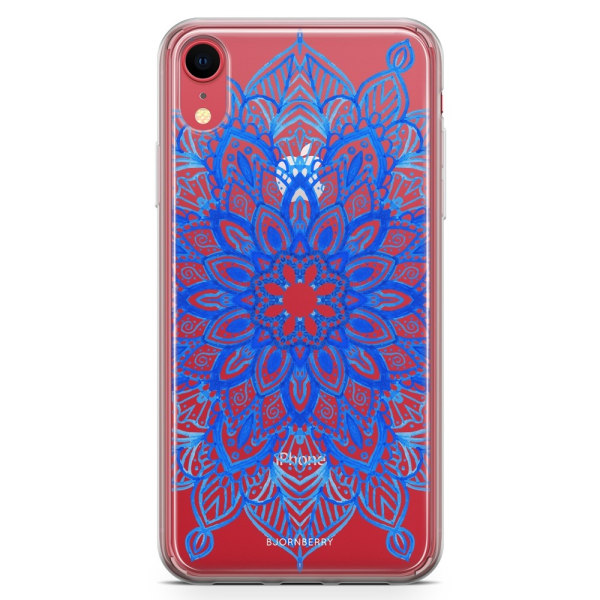 Bjornberry Hybrid Skal iPhone XR  - Blå Mandala