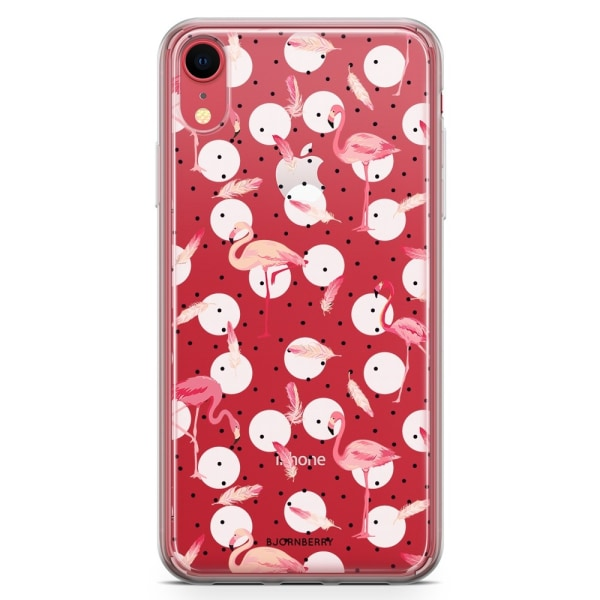 Bjornberry Hybrid Skal iPhone XR  - Flamingos