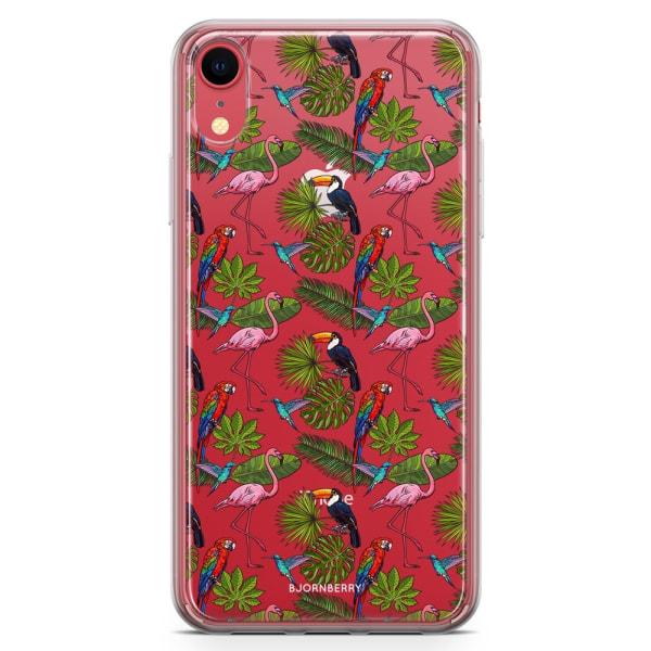 Bjornberry Hybrid Skal iPhone XR  - Tropiskt Mönster