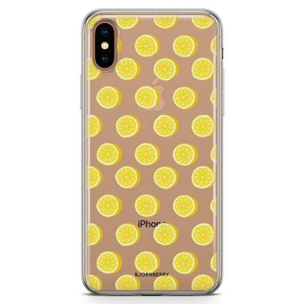 Bjornberry Hybrid Skal iPhone Xs Max  - Citroner