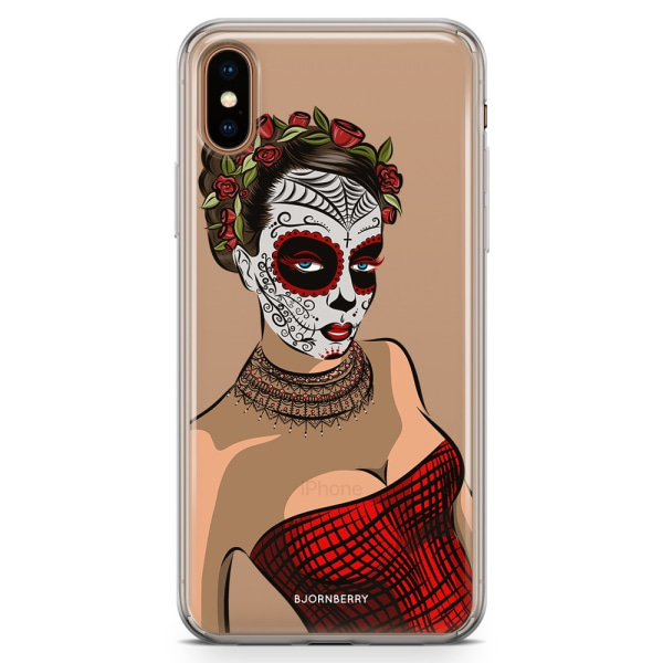 Bjornberry Hybrid Skal iPhone Xs Max  - Döskalle Maskblommor