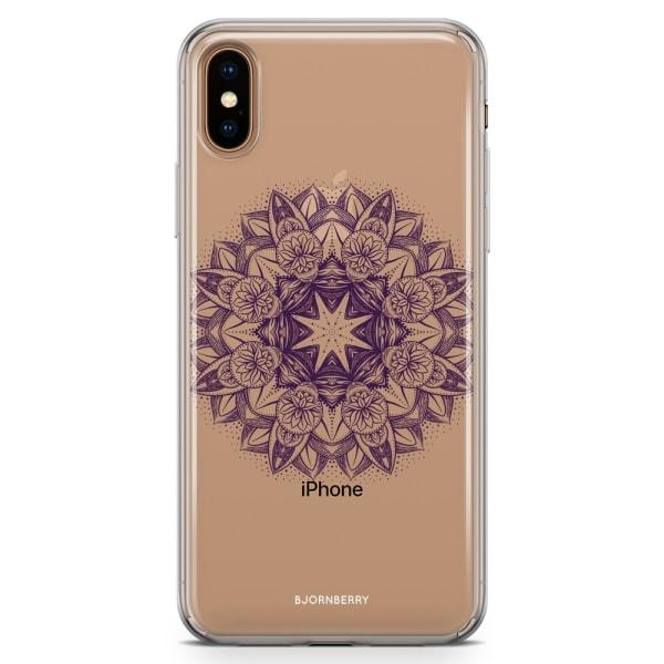 Bjornberry Hybrid Skal iPhone Xs Max  - Lila Mandala