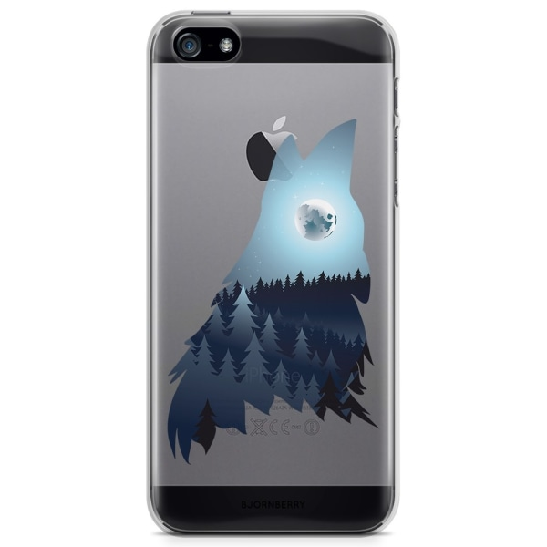 Bjornberry iPhone 5/5S/SE TPU Skal - Forest Wolf