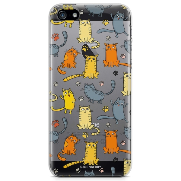 Bjornberry iPhone 5/5S/SE TPU Skal - Kattmönster