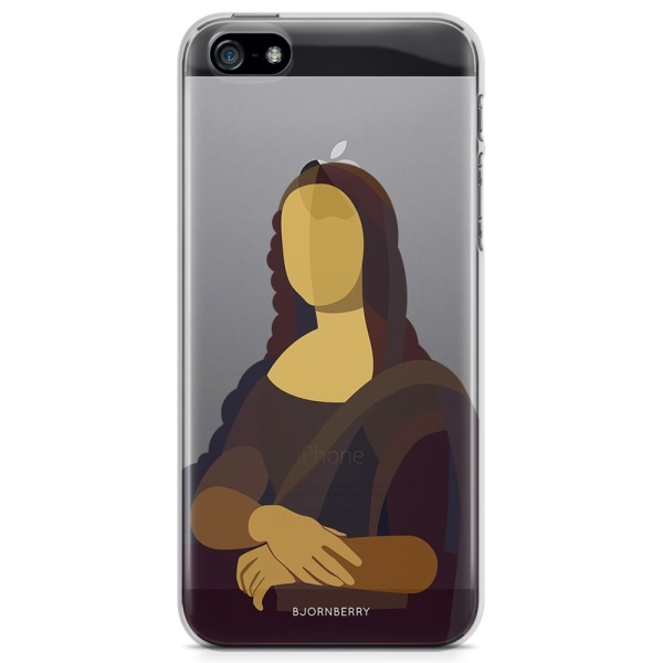 Bjornberry iPhone 5/5S/SE TPU Skal - Mona Lisa