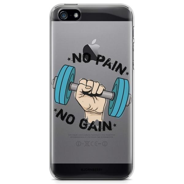 Bjornberry iPhone 5/5S/SE TPU Skal - No pain no gain