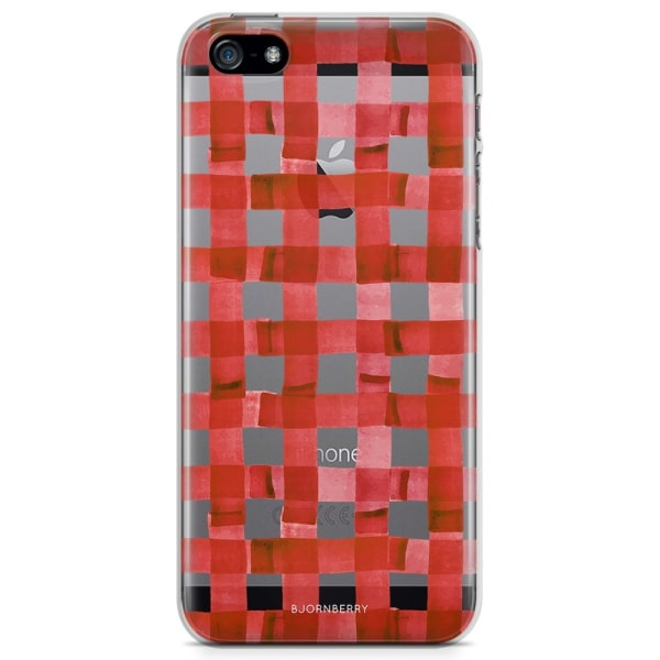 Bjornberry iPhone 5/5S/SE TPU Skal - Röda Ränder