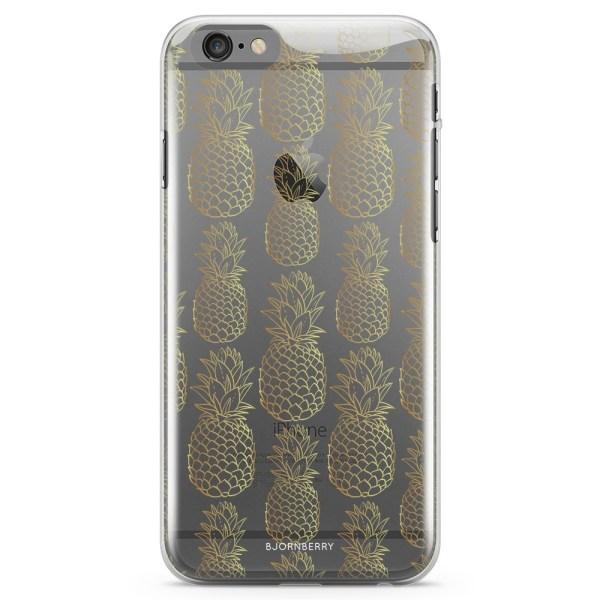 Bjornberry iPhone 6/6s TPU Skal - Guldiga Ananas