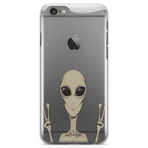 Bjornberry iPhone 6/6s TPU Skal - Peace Alien