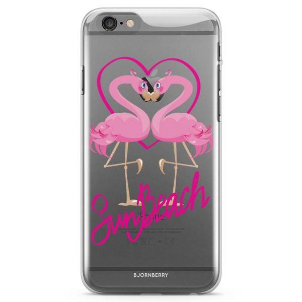 Bjornberry iPhone 6/6s TPU Skal - Sun Beach Flamingo