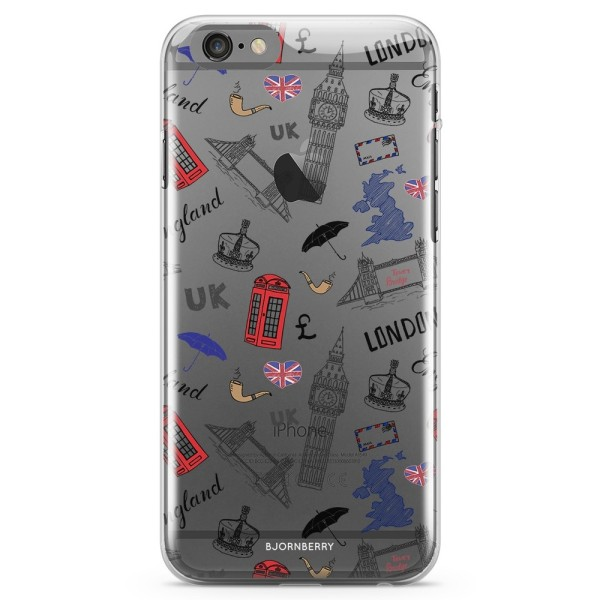 Bjornberry iPhone 6/6s TPU Skal - UK Mönster
