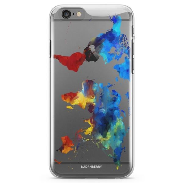 Bjornberry iPhone 6/6s TPU Skal - Världskarta