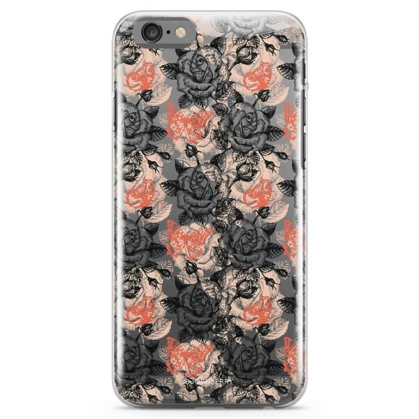 Bjornberry iPhone 6 Plus/6s Plus TPU Skal - Fjärilar & Rosor