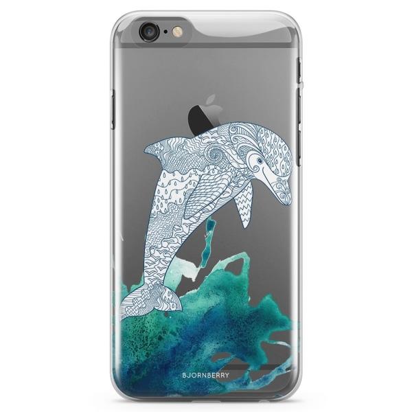 Bjornberry iPhone 6 Plus/6s Plus TPU Skal - Mandala Delfin
