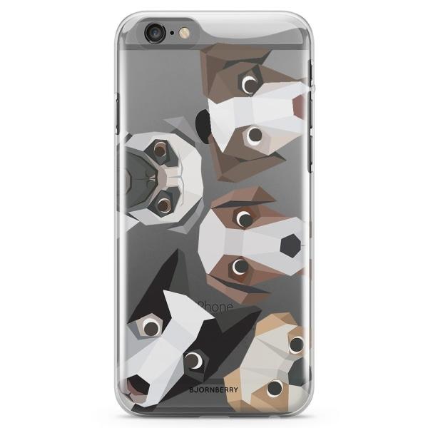 Bjornberry iPhone 6 Plus/6s Plus TPU Skal - Tecknade Hundar
