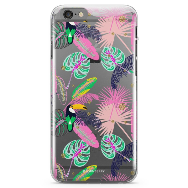 Bjornberry iPhone 6 Plus/6s Plus TPU Skal - Tropical Pattern