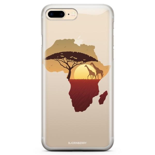 Bjornberry iPhone 7 Plus TPU Skal - Afrika Svart