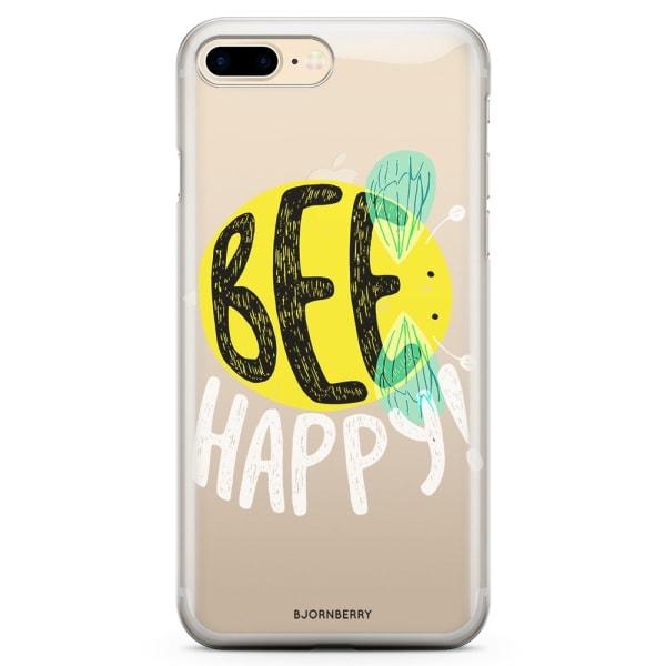 Bjornberry iPhone 7 Plus TPU Skal - BEE HAPPY