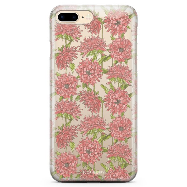 Bjornberry iPhone 7 Plus TPU Skal - Blommigt Mönster
