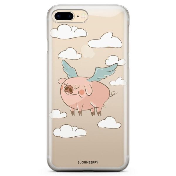 Bjornberry iPhone 7 Plus TPU Skal - Flygande Gris